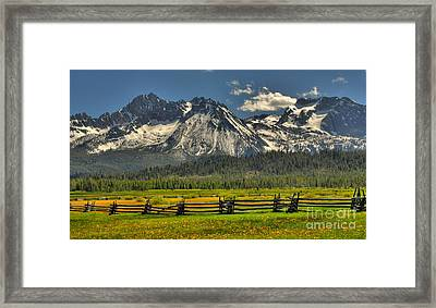 Sawtooth Mountains Framed Print