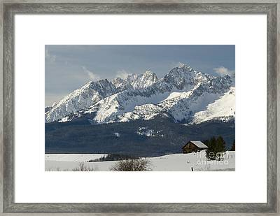 Sawtooth Mountains Framed Print by William H. Mullins