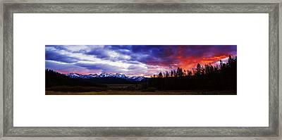 Sawtooth Sunset Panorama Framed Print