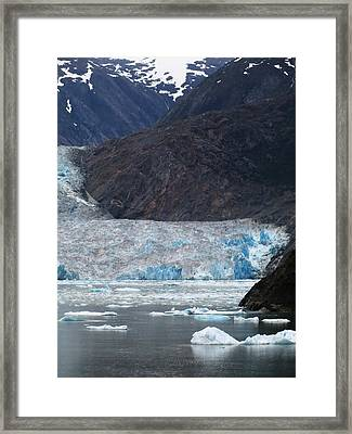 Framed Print featuring the photograph Sawyer Glacier Blue Ice by Jennifer Wheatley Wolf