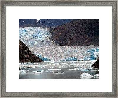 Framed Print featuring the photograph Sawyer Glacier by Jennifer Wheatley Wolf