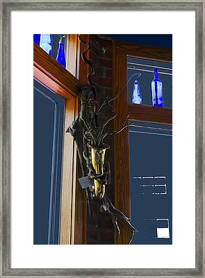 Sax At The Full Moon Cafe Framed Print