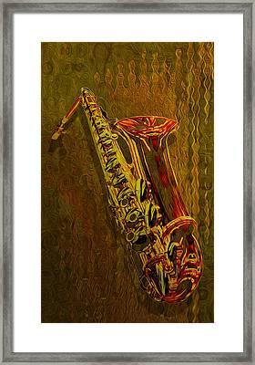 Sax Framed Print by Jack Zulli