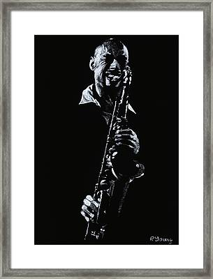 Sax Player Framed Print by Richard Young