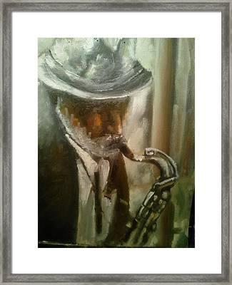Sax Framed Print by Razvan Juretcu