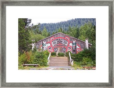 Saxman Totem Park  Framed Print by Frances  Dillon