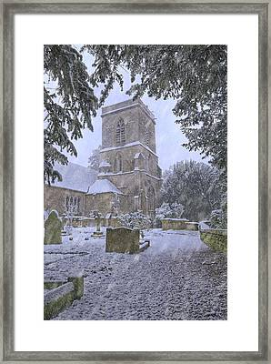Saxon Church In Winter Framed Print