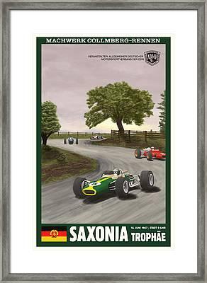 Saxony Germany Grand Prix 1967 Framed Print by Georgia Fowler