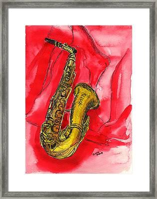 Saxophone Framed Print