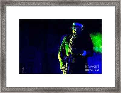Saxophone Framed Print by Jill Hyland