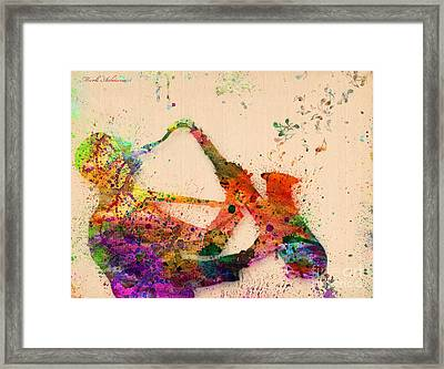 Saxophone  Framed Print by Mark Ashkenazi