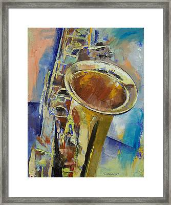 Saxophone Framed Print by Michael Creese