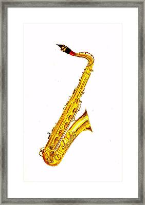 Saxophone Framed Print by Michael Vigliotti