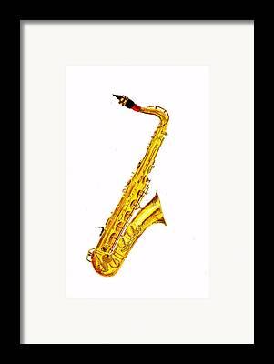Saxophone Framed Prints