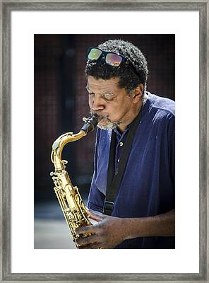 Saxophone Player 2 Framed Print by Carolyn Marshall