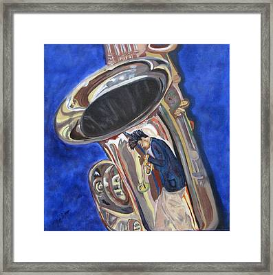 Saxy Reflection Sold Framed Print