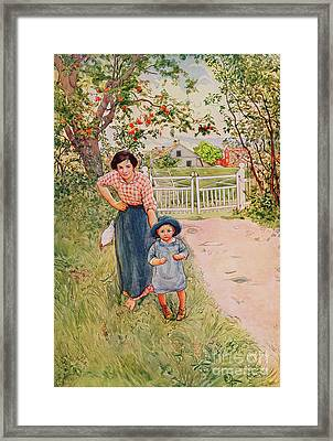 Say A Nice How Do You Do To Your Uncle Framed Print by Carl Larsson