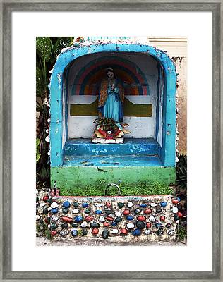 Say A Prayer In Bocas Framed Print by John Rizzuto