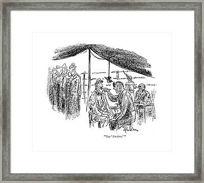 Say 'aachen.' Framed Print