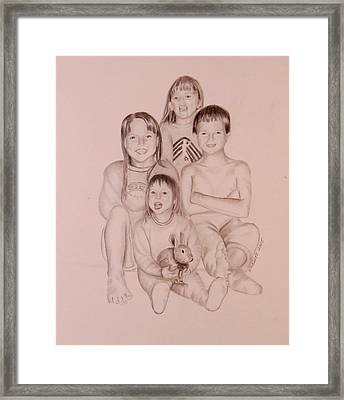 Framed Print featuring the drawing Say Cheese by Sharon Schultz