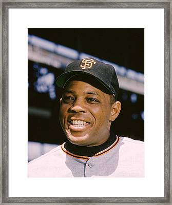 Say Hey Willie Mays Framed Print by Retro Images Archive