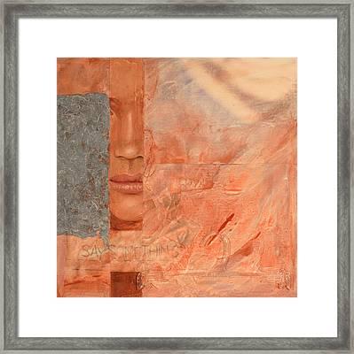 Say Something Framed Print by Carlynne Hershberger