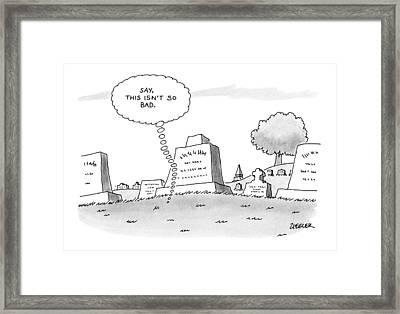 'say, This Isn't So Bad.' Framed Print