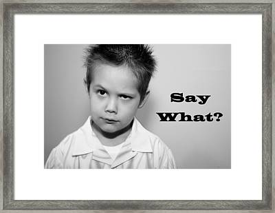 Say What Framed Print by Stephanie Grooms