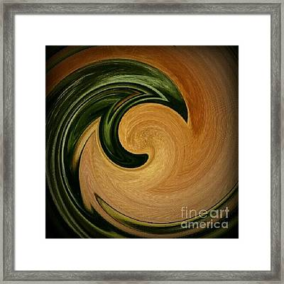 Say Yes To Swirls Framed Print