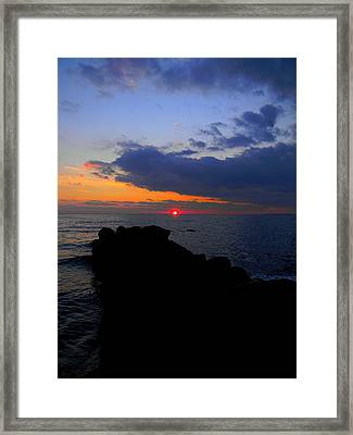 Saybrook Sunset Framed Print by Andrea Galiffi