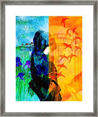 Saying Goodbye Framed Print by Bruce Manaka