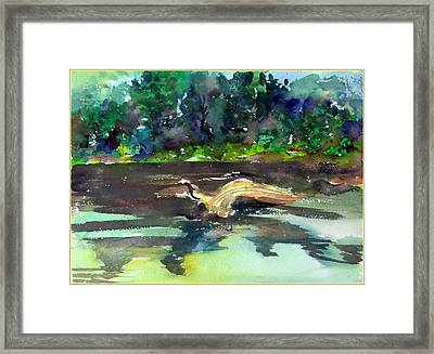Saying Hello Framed Print by Mindy Newman