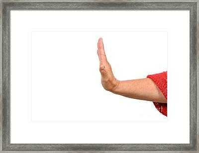 Saying No  Framed Print