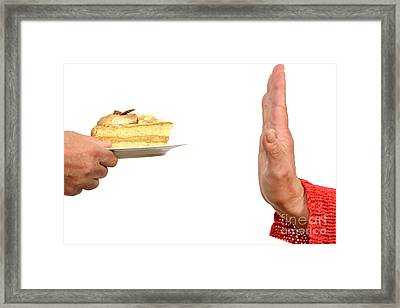 Saying No To Cake Framed Print