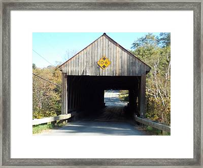 Sayres Covered Bridge Framed Print by Catherine Gagne
