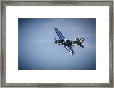 Framed Print featuring the photograph Sb2c Helldiver by Bradley Clay