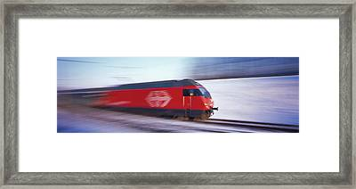 Sbb Train Switzerland Framed Print by Panoramic Images