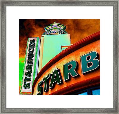 Peekaboo Starbucks Framed Print by David Lee Thompson