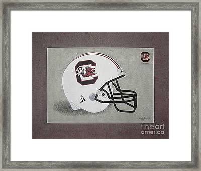 S.c. Gamecocks T-shirt Framed Print by Herb Strobino