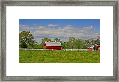 Framed Print featuring the photograph Sc Horse Farm by Andy Lawless