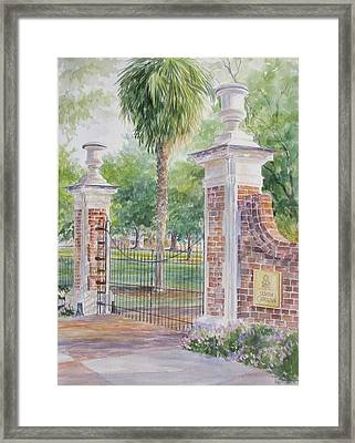 South Carolina. Horseshoe Sold Framed Print