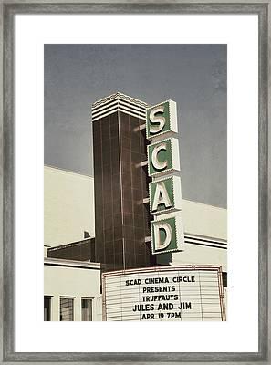 Scad Theater Framed Print by Brandon Addis