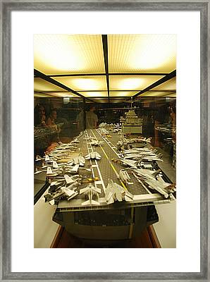 Scale Model Aircraft Carrier Framed Print