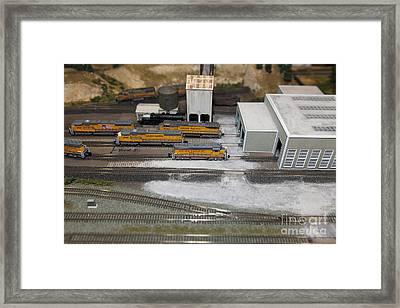 Scale Model Trains 5d21850 Framed Print