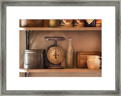 Scale - The Family Scale Framed Print by Mike Savad