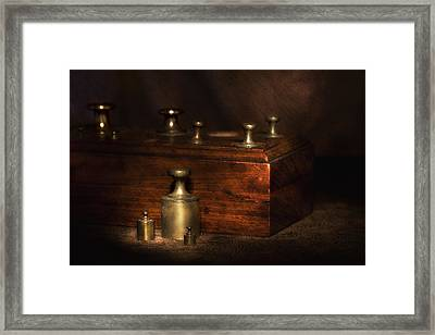 Scale Weights Still Life I Framed Print