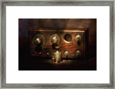 Scale Weights Still Life II Framed Print by Tom Mc Nemar