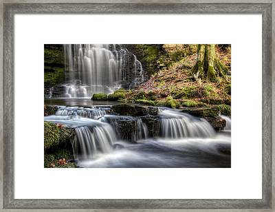 Scaleber Force Falls Framed Print by Chris Frost