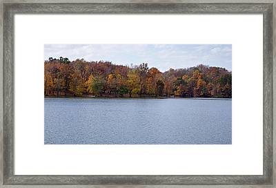 Scales Lake In Autumn Framed Print by Sandy Keeton