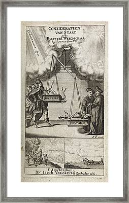 Scales Of Justice And Politics Framed Print